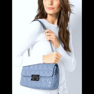 Michael Kors Blue Sloan Quilted Leather Purse NWOT